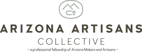 Arizona Artisans Collective logo and tag line