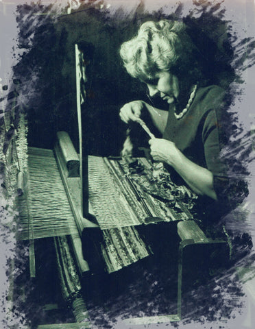 My grandmother Alfrida Svanstrom at the loom