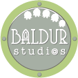 Logo of Baldur Studios with Lily of the Valley