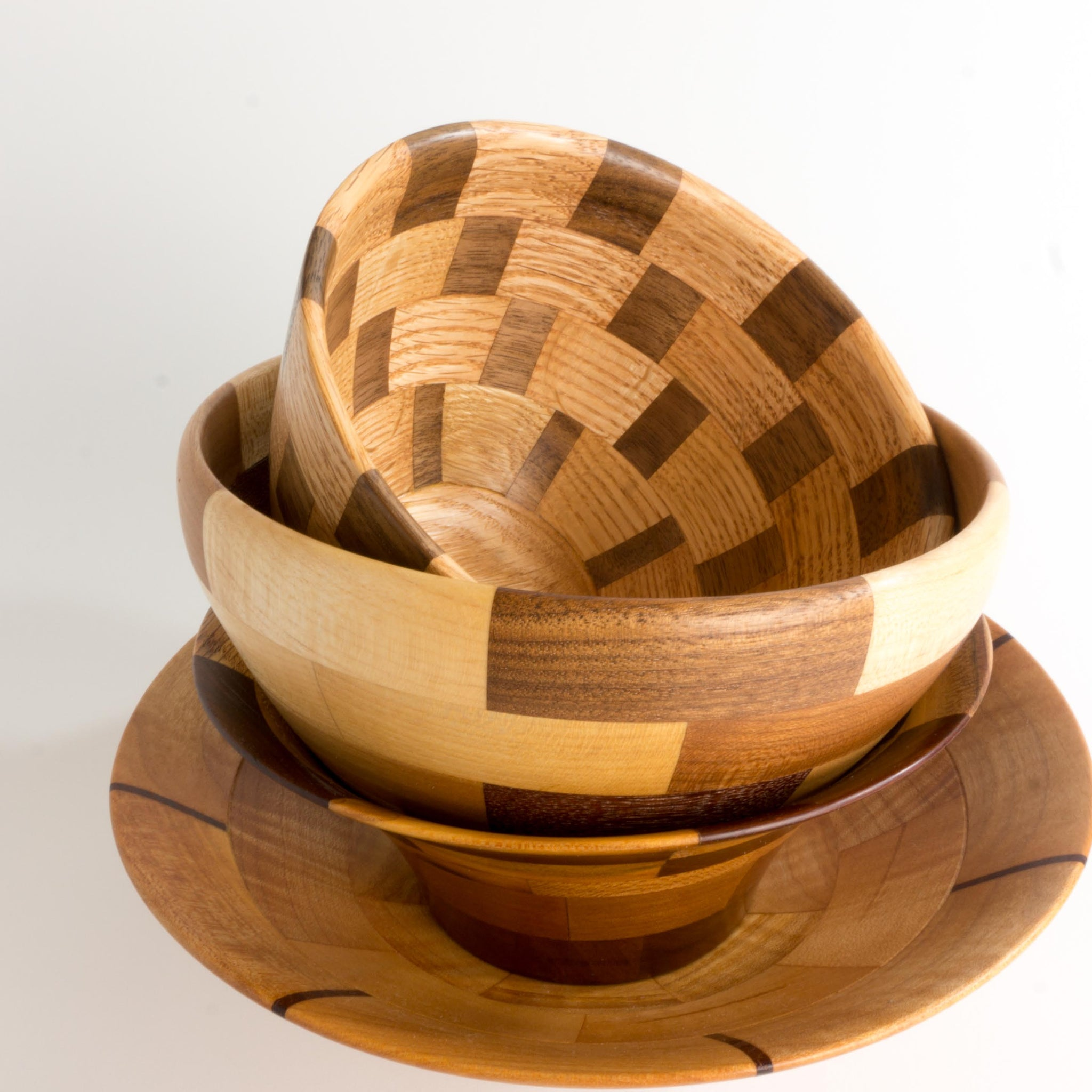 Bowls, medium segmented