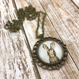 Brown Bunny Rabbit Necklace - Brass