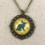 Rabbit Necklace - Brass