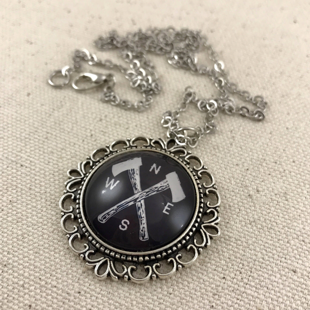 Axe and Compass Necklace