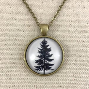 Tree Necklace Antique Brass