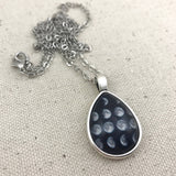 Moon Phase Necklace - Antique Silver