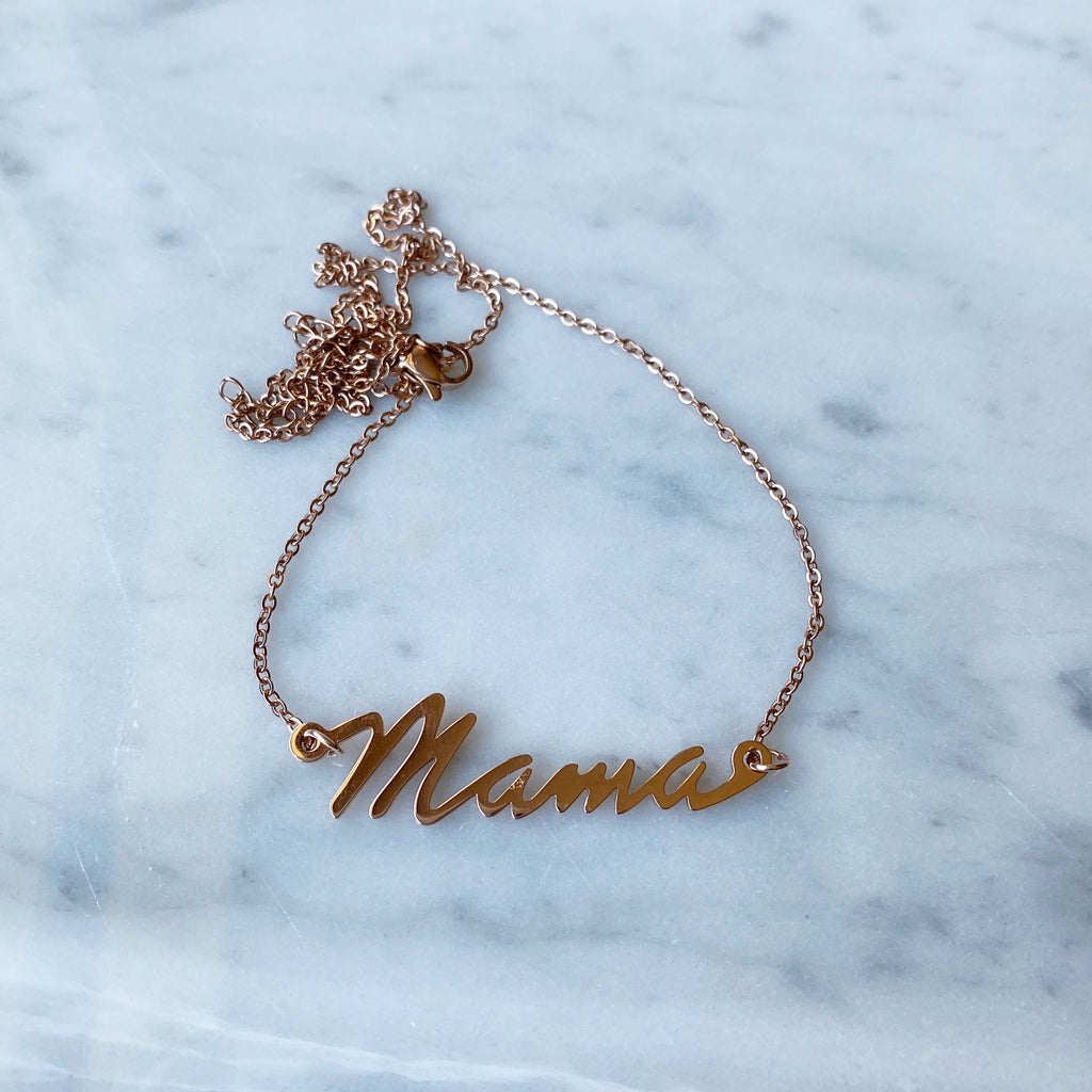 Mama Necklace - Rose Gold