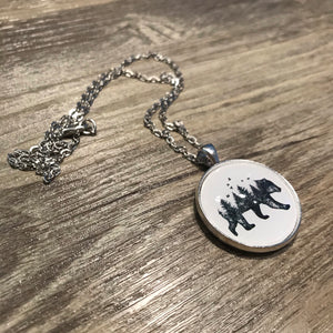 Bear Landscape Necklace - Large