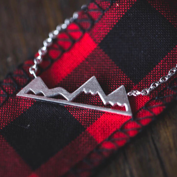 Mountain Necklace - Silver