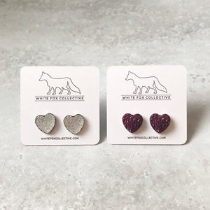 Heart Faux Druzy Earrings