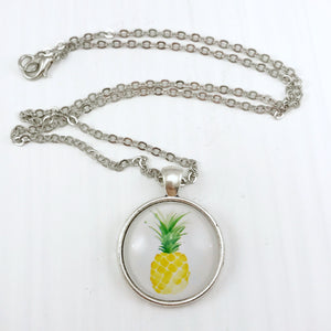 Pineapple Necklace - Antique Silver