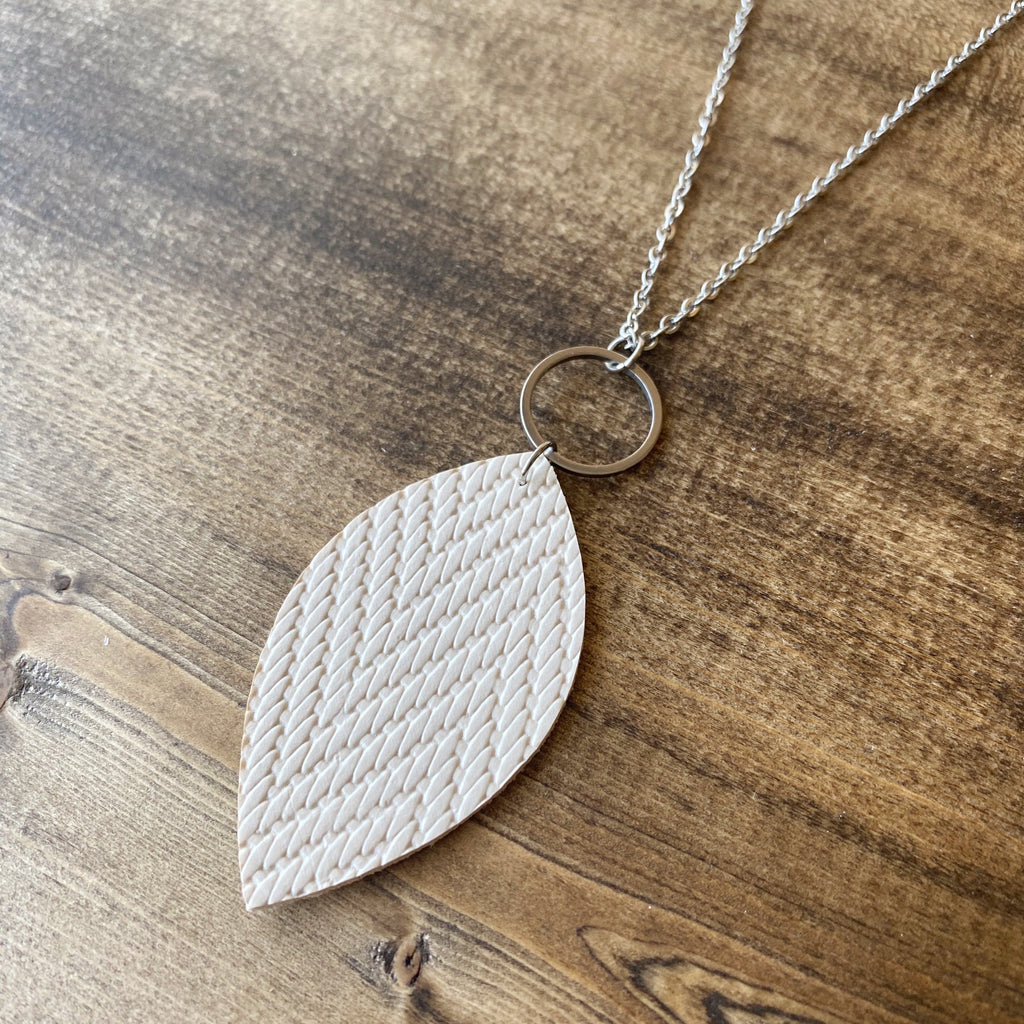 Leaf Necklace - Latte