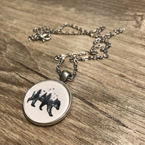 Bear Landscape Necklace