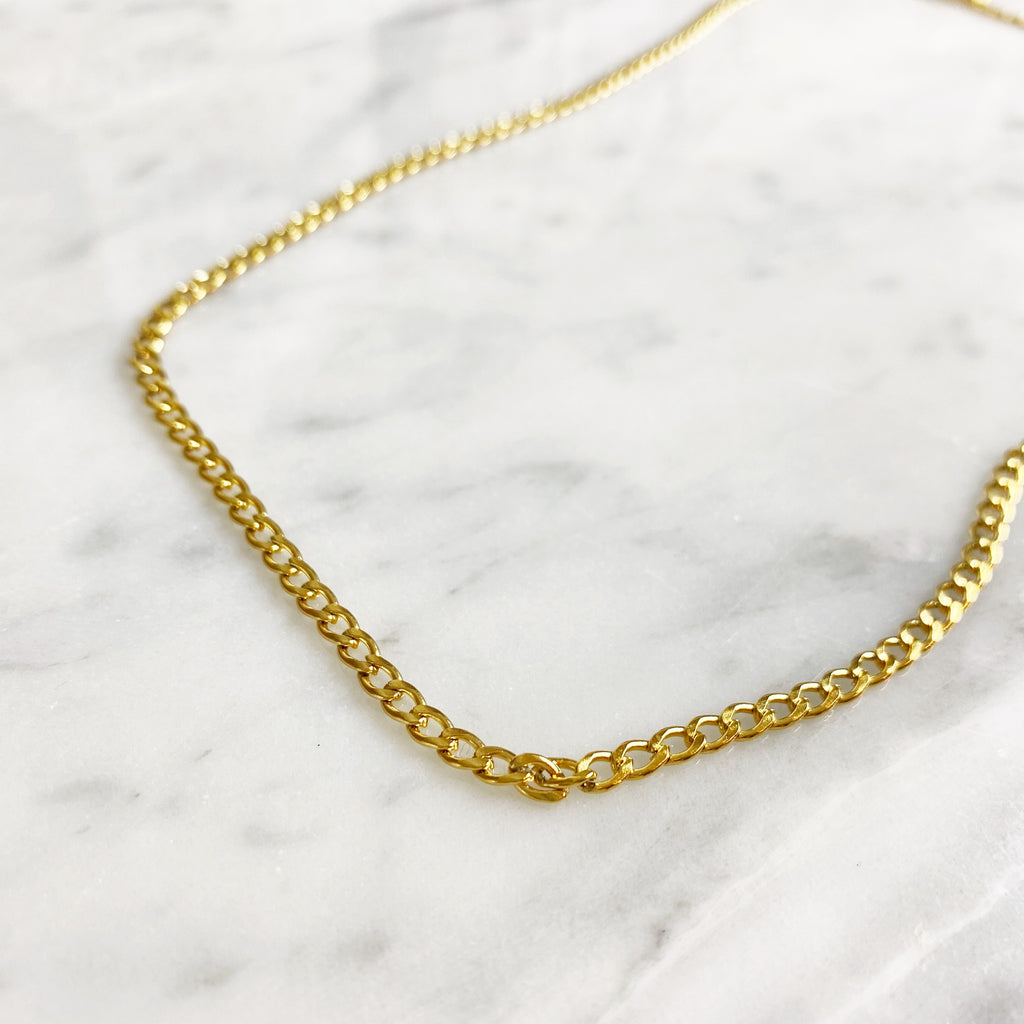 Small Chain Necklace - Gold