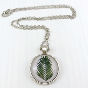 Fern Necklace - Antique Silver