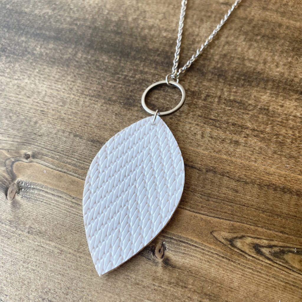 Leaf Necklace - White