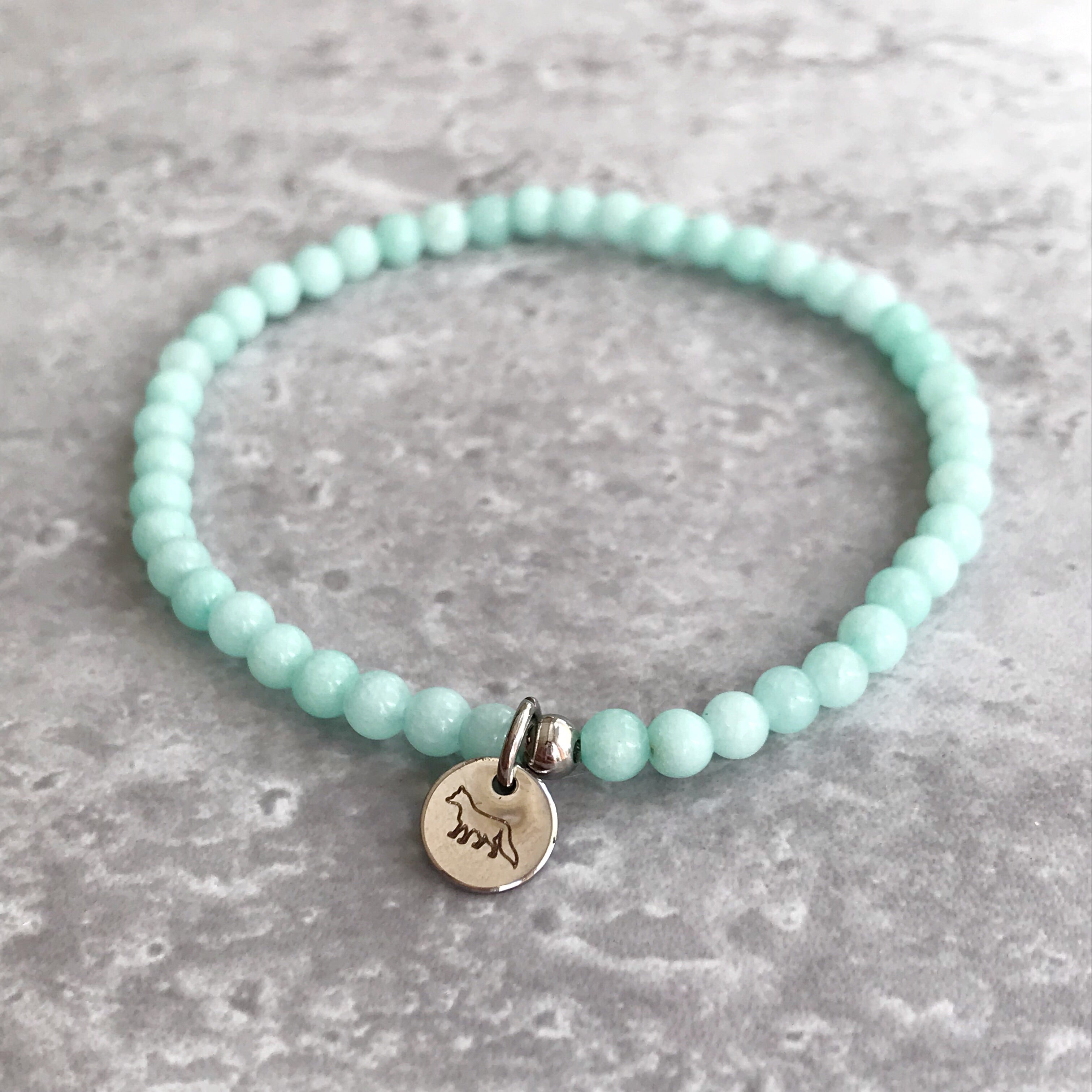 Blue Amazonite Bracelet - 4mm