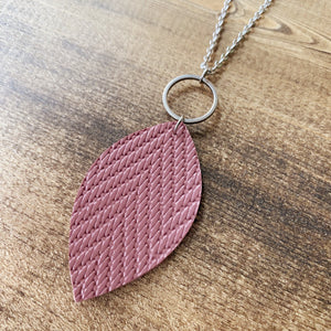 Leaf Necklace - Mauve