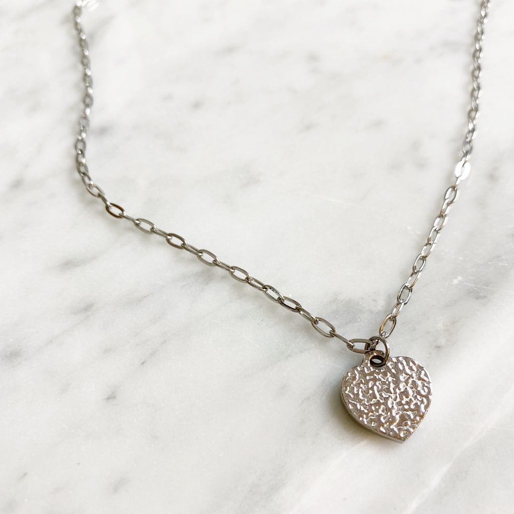 Heart Necklace - Silver