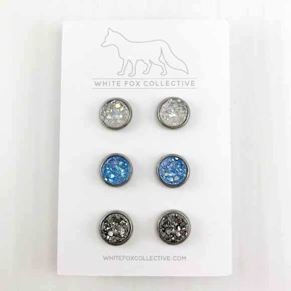 Triple Earring Pack - Ocean Blue Mix