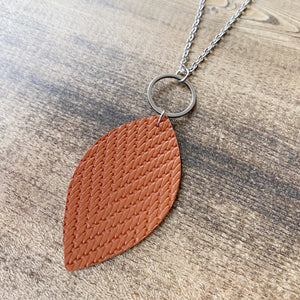 Leaf Necklace - Cinnamon