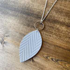 Leaf Necklace - Grey
