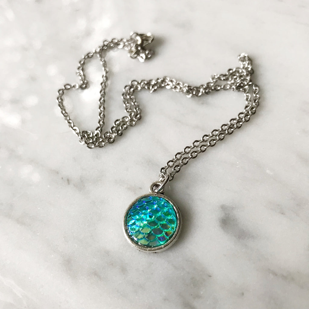 Teal Mermaid Necklace