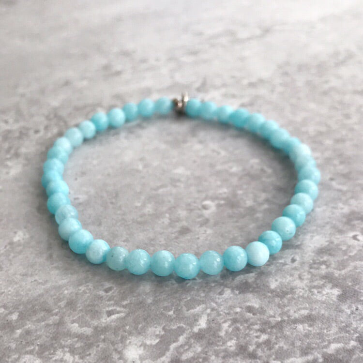 Aquamarine Bracelet - 4mm