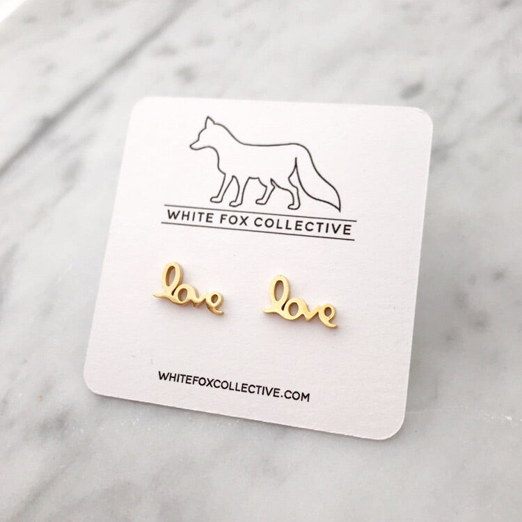 Love Earrings - Gold
