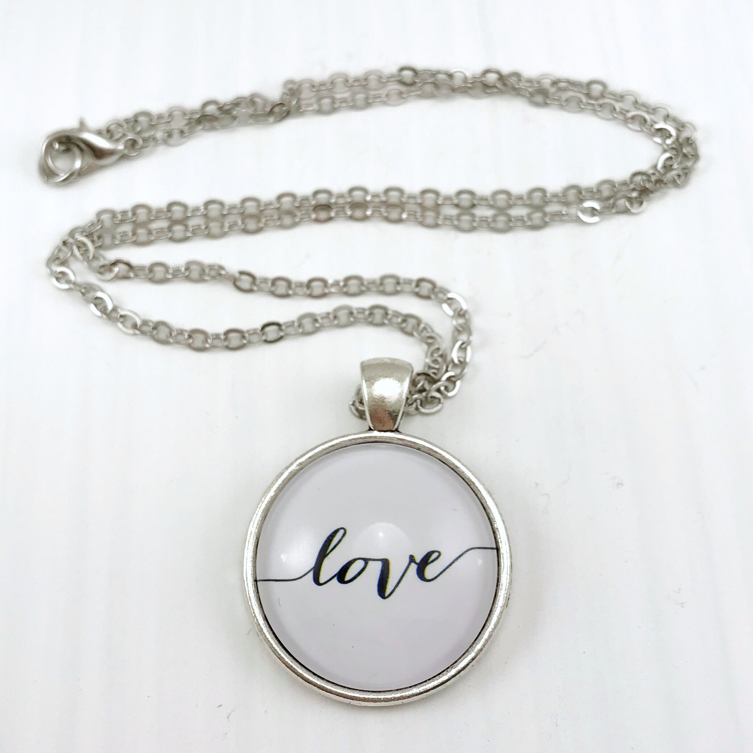 Love Necklace - Antique Silver