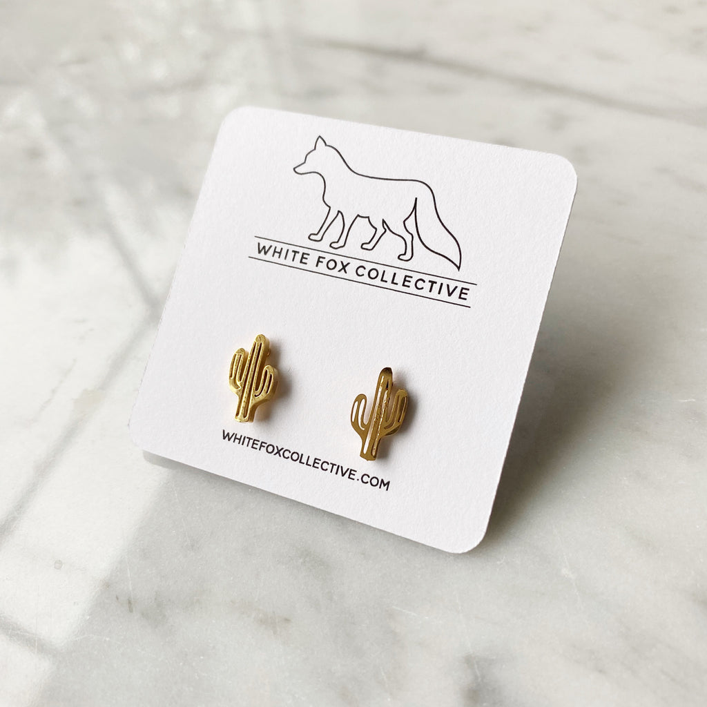 Cactus Earrings - Gold