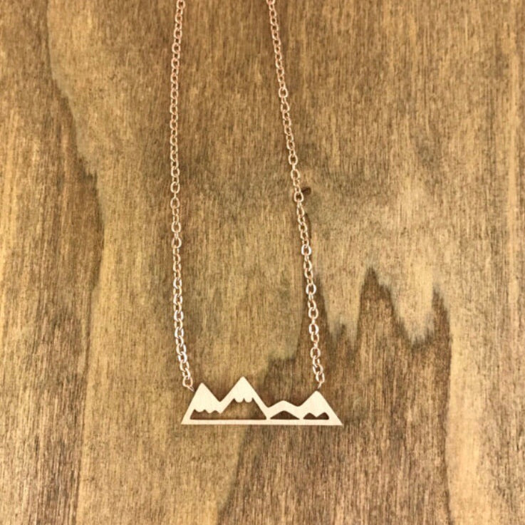 Mountain Necklace - Rose Gold