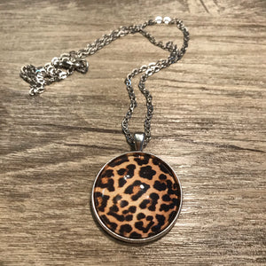 Leopard Print Necklace - Large