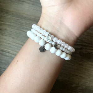 White Bracelet Set - 3 Piece