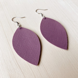 Leaf Earrings - Lilac