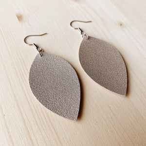 Leaf Earrings - Champagne Shimmer