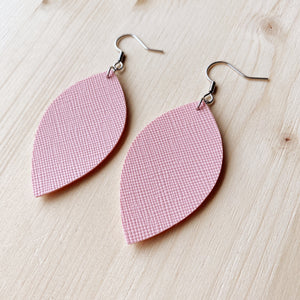 Leaf Earrings - Pink