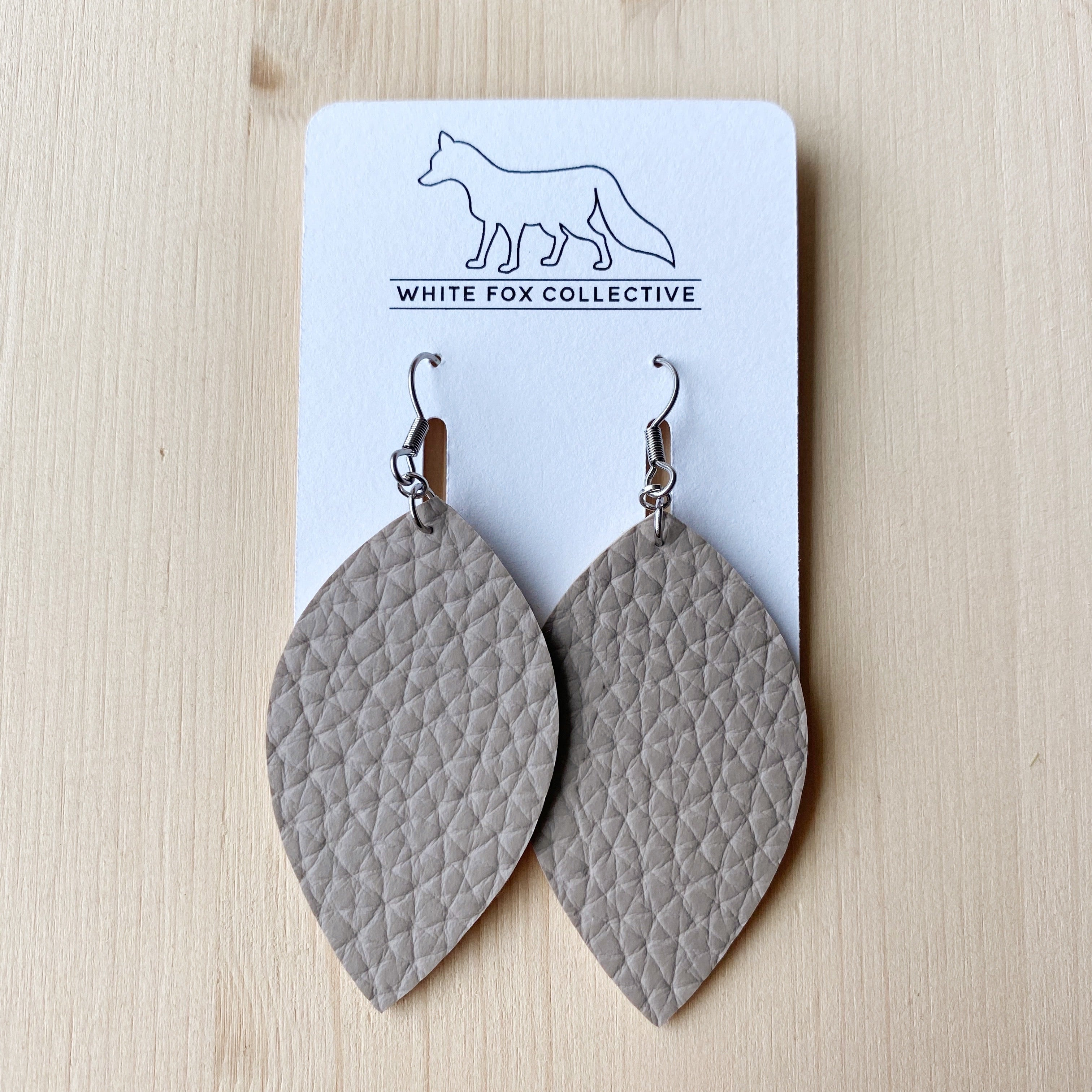 Leaf Earrings - Sand