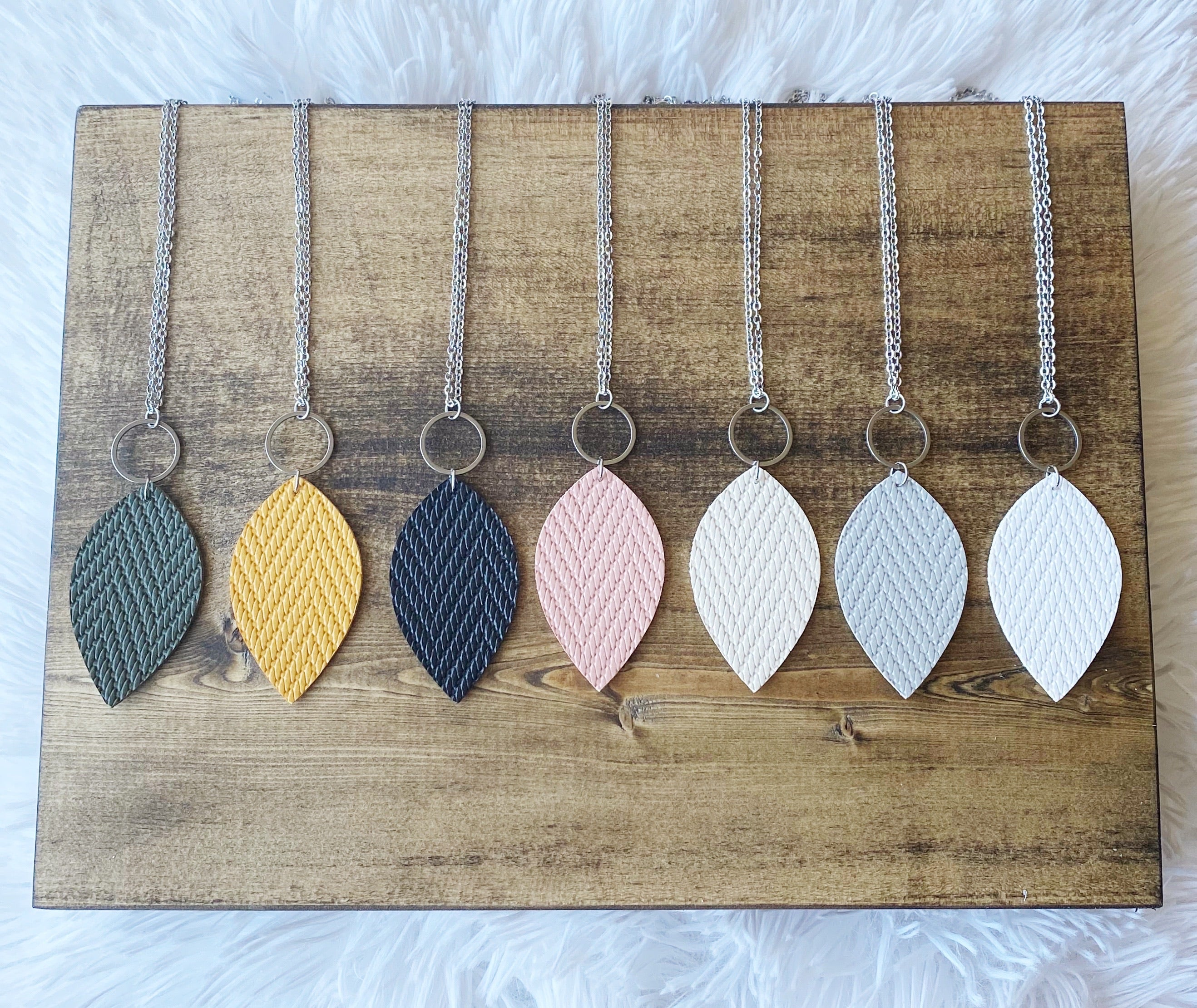 Leaf Necklace - Mustard