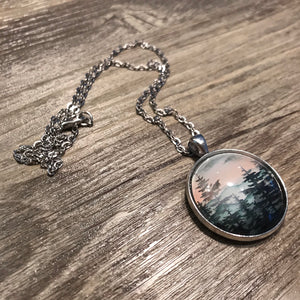 Pastel Skies Forest Necklace - Large