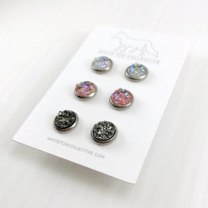 Triple Earring Pack - Pink Mix