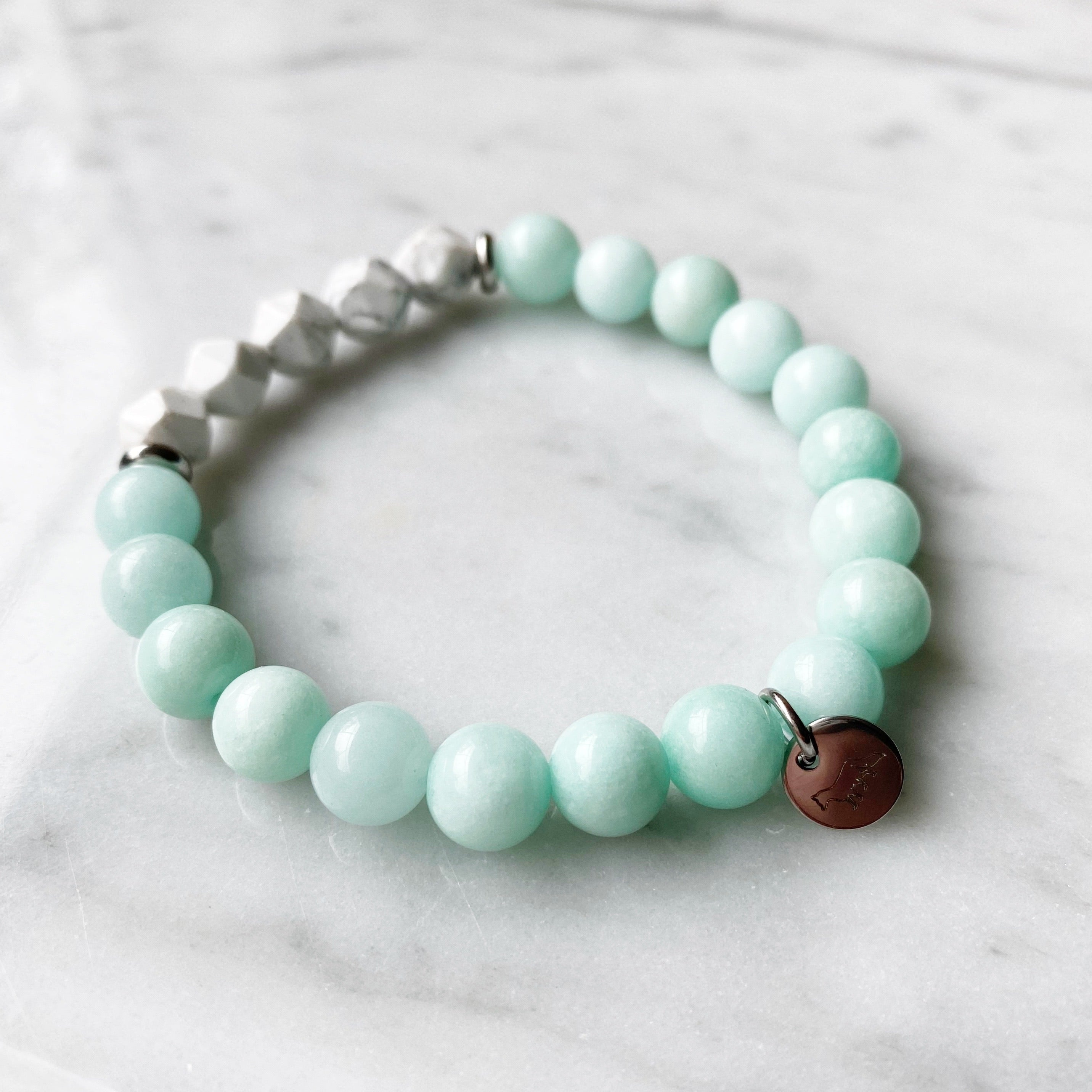 Amazonite and Howlite Bracelet - 8mm