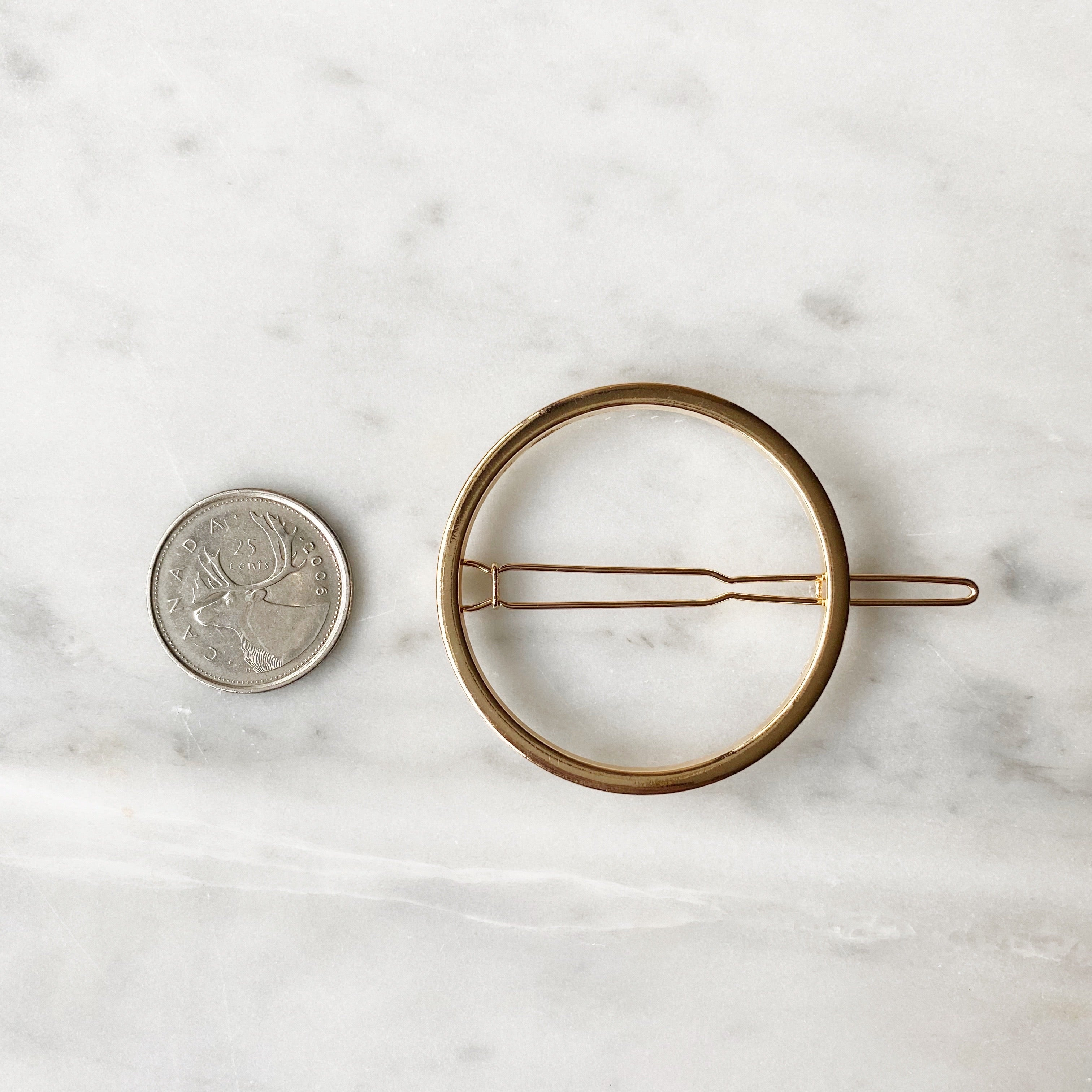 Circle Hair Clip - Gold