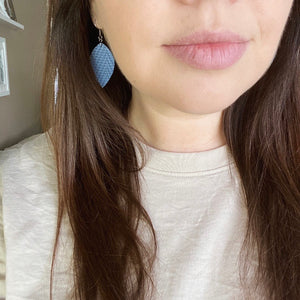 Leaf Earrings - Cream