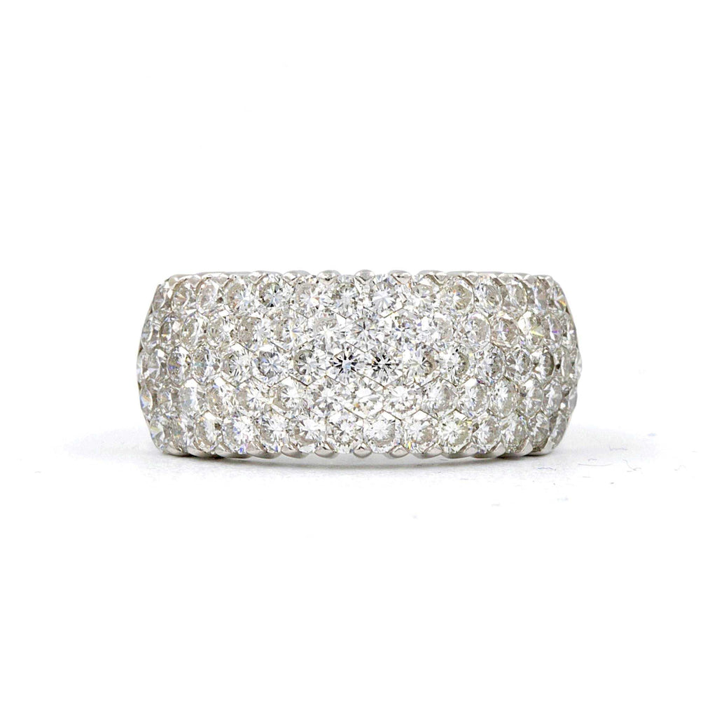 Aiolita 18kt White Gold Diamond Band ,79 Invisible Set Hexagon shaped Diamonds total of 2.01 carat weight | Blacy's Fine Jewelers