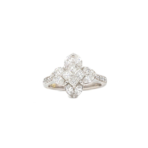 LV Four Pointed Star Diamond Ring