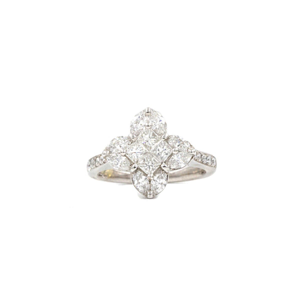 LV Four Pointed Star Diamond Ring | Blacy's Fine Jewelers