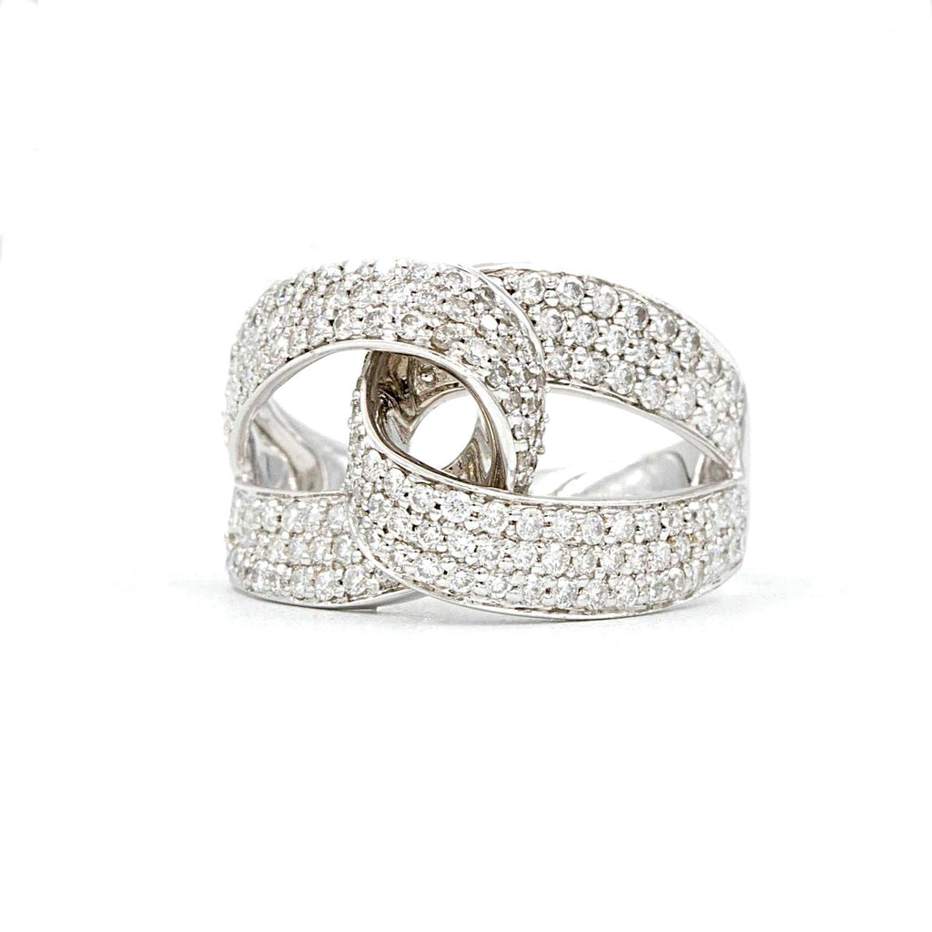 Pave Diamond Love Knot Ring | Blacy's Fine Jewelers
