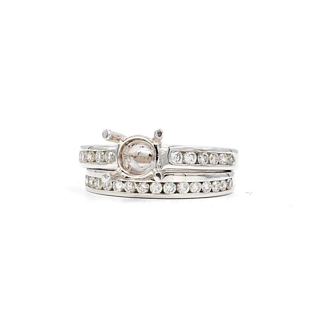 Diamond White Gold Wedding Set Semi Mounting | Blacy's Fine Jewelers