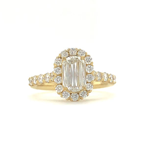 0.70ct Christopher Designs L'amour Diamond Ring, 18K White Gold, with Halo Design | Blacy's Fine Jewelers