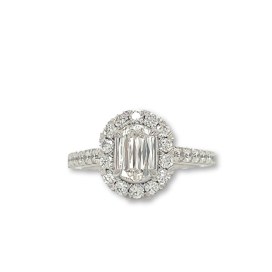 Christopher Designs Halo L'amour Crisscut Ring | Blacy's Fine Jewelers